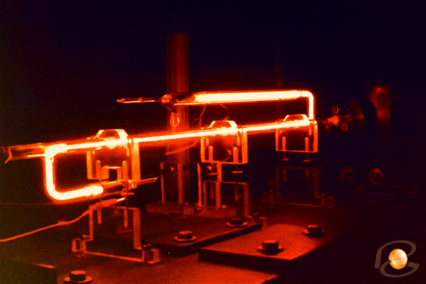 Helium laser